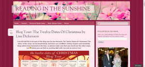 Blog Tour- The Twelve Dates Of Christmas by Lisa Dickenson - Reading In The Sunshine