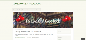 Feeling inspired with Lisa Dickenson - The Love Of A Good Book