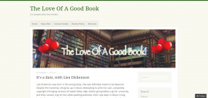 It's a date, with Lisa Dickenson - The Love Of A Good Book