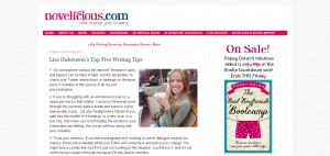 Lisa Dickenson's Top Five Writing Tips - Novelicious.com - The Women's Fiction Blog for Readers and Writers