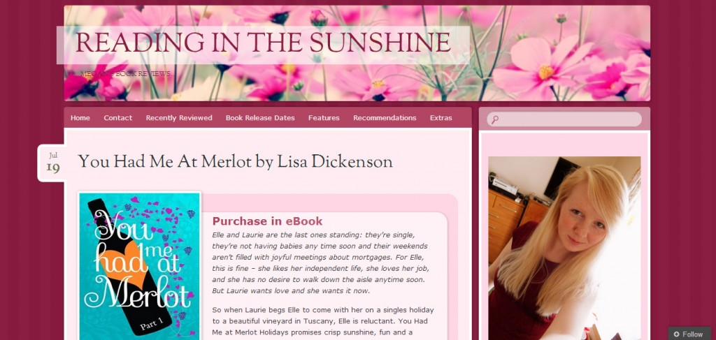 http://readinginthesunshine.wordpress.com/2014/07/19/you-had-me-at-merlot-by-lisa-dickenson/
