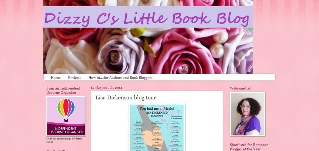 http://dizzycslittlebookblog.blogspot.co.uk/2014/07/lisa-dickenson-blog-tour.html