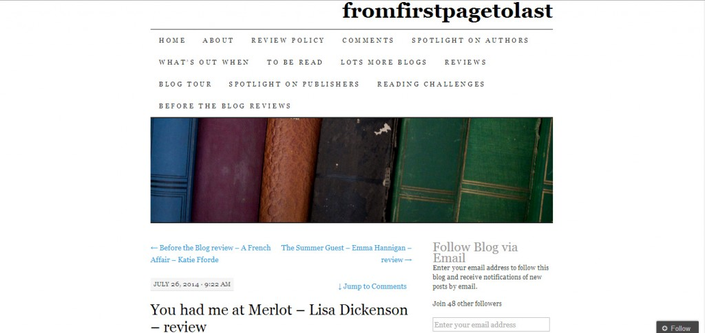 http://fromfirstpagetolast.wordpress.com/2014/07/26/you-had-me-at-merlot-lisa-dickenson-review/