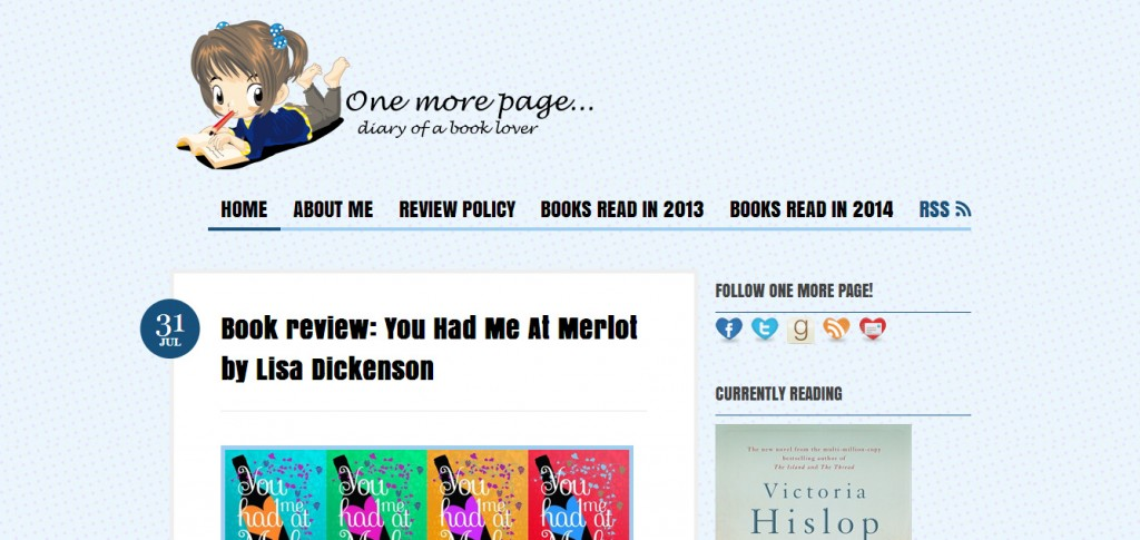 http://www.onemorepage.co.uk/index.php/2014/07/book-review-you-had-me-at-merlot-by-lisa-dickenson/